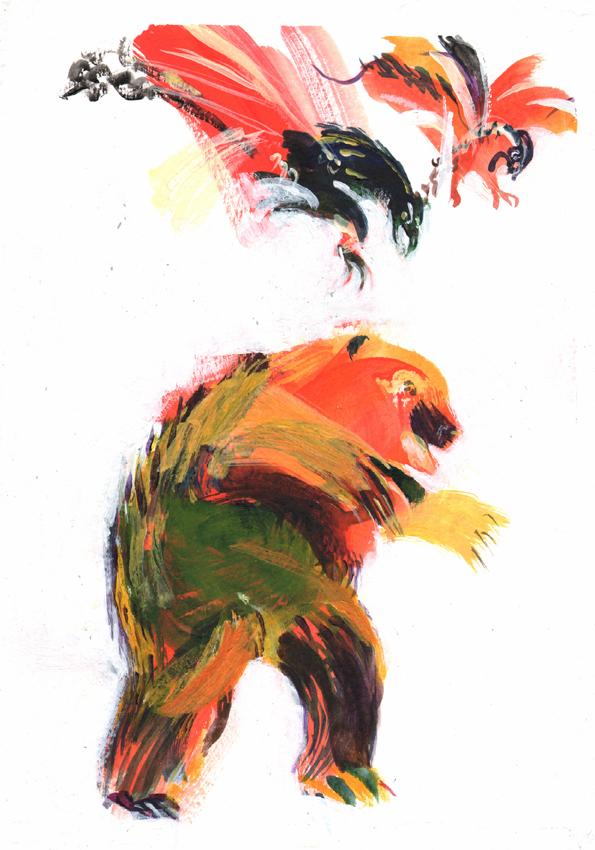 Tavola di Anna Vidyaykina per il concorso di illustrazione Notte di Fiaba