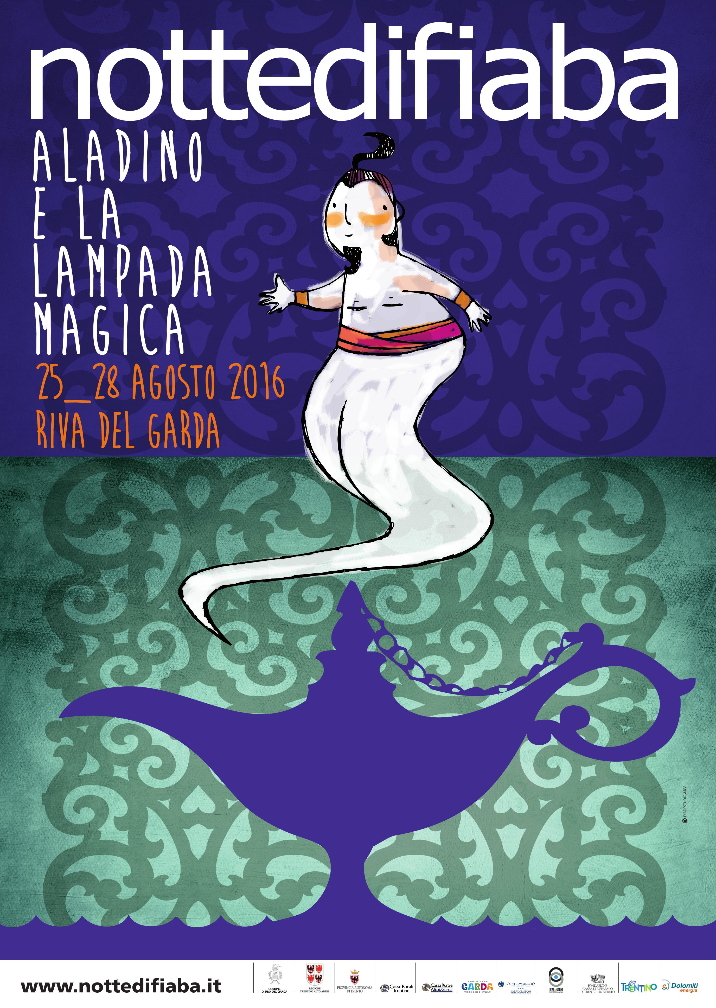 aladino e la lampada magica poster 2016 notte di fiaba